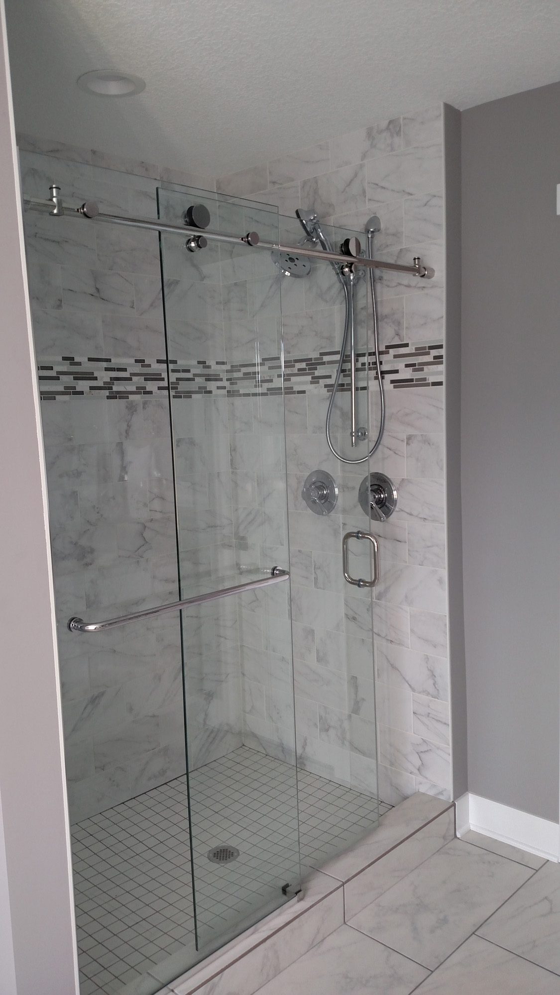 3648 Landings Glass Barn Doors for the Shower2